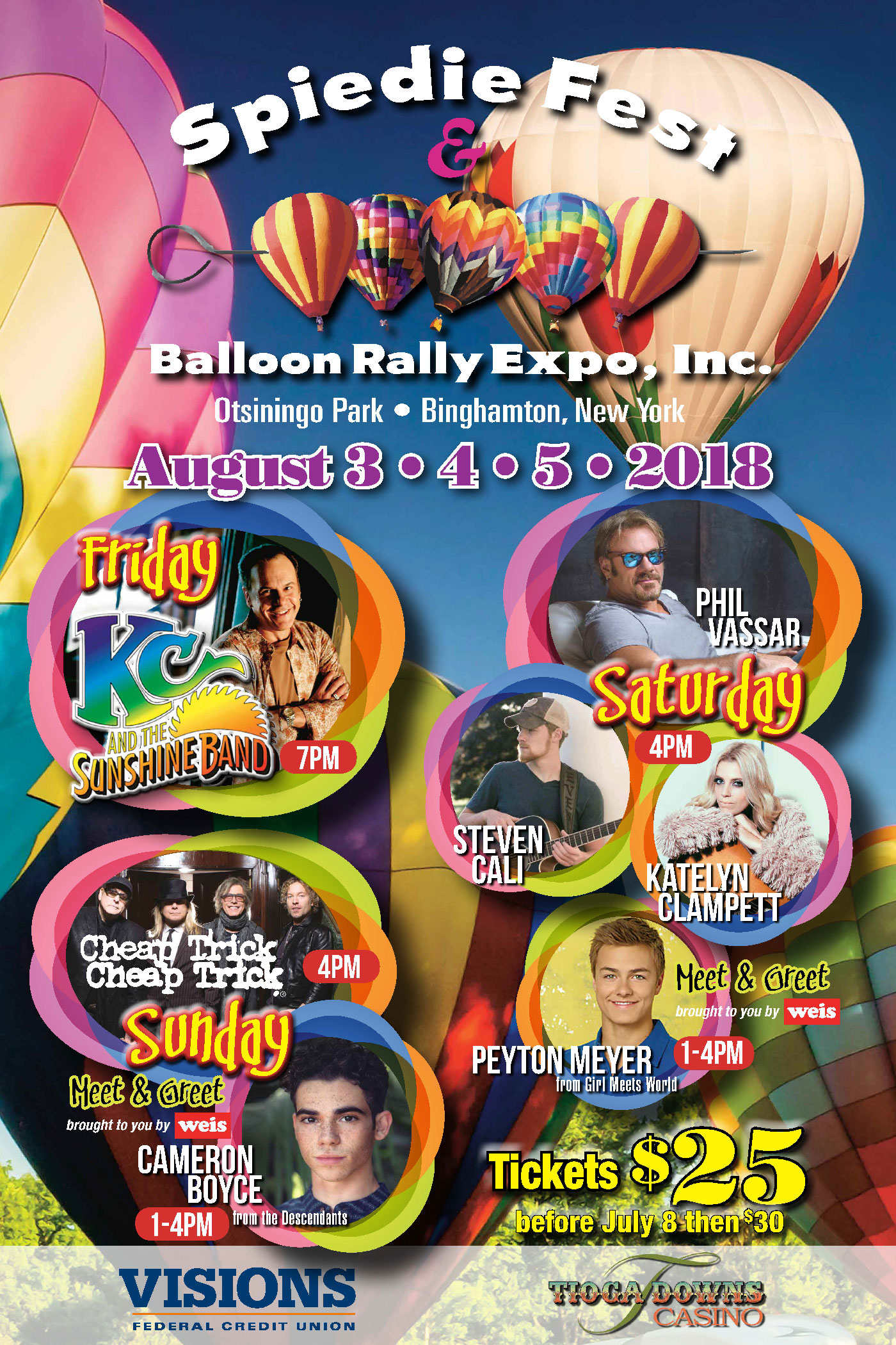 2018 Spiedie Fest Balloon Rally Otsiningo Park August 3 4 5